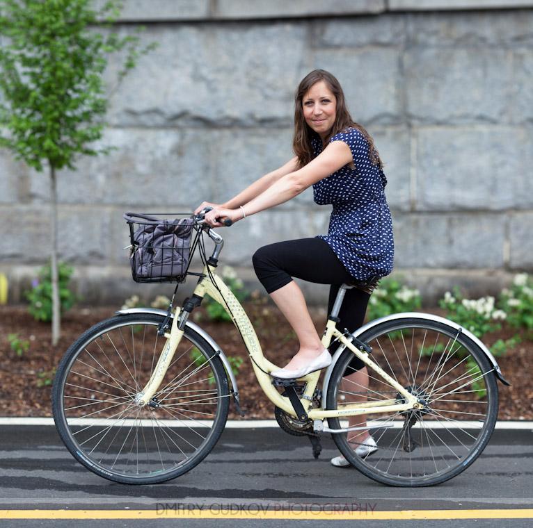 New York Bike Portrait Erin and Trek bicycle