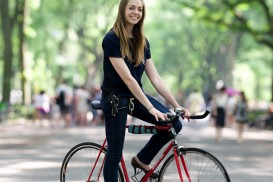 New York Bike Portrait Kim Burgas in Central Park
