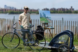Andrew Lenaghan painter bike portrait brooklyn