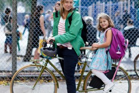 Bike Portrait of mother and daughter in Manhattan