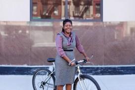 Lisa bicycle portrait in bed-stuy brooklyn
