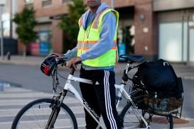 Jono bicycle portrait in Brooklyn