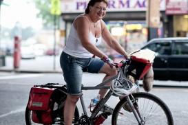 cathy catwoman cannondale queens bike portrait