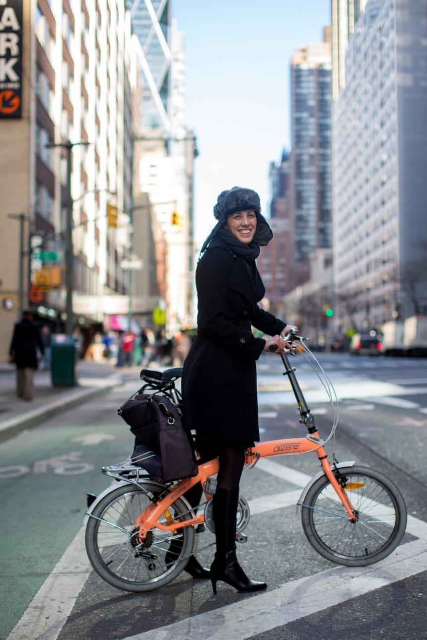 citizen miami folding bike portrait catherine manhattan new york