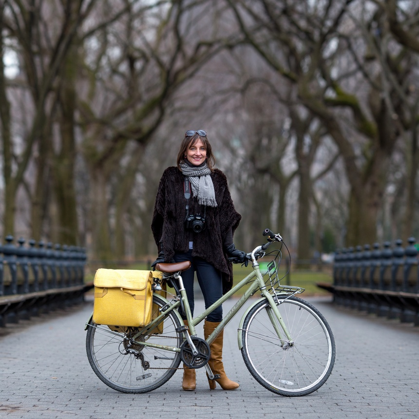 central park bike portrait liz patek cycle chic