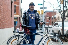 steve construction worker cyclist bike commuter greenpoint new york city
