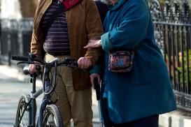 senior citizen bike portrait