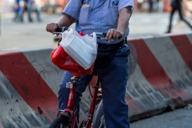 mailman bike portrait new york
