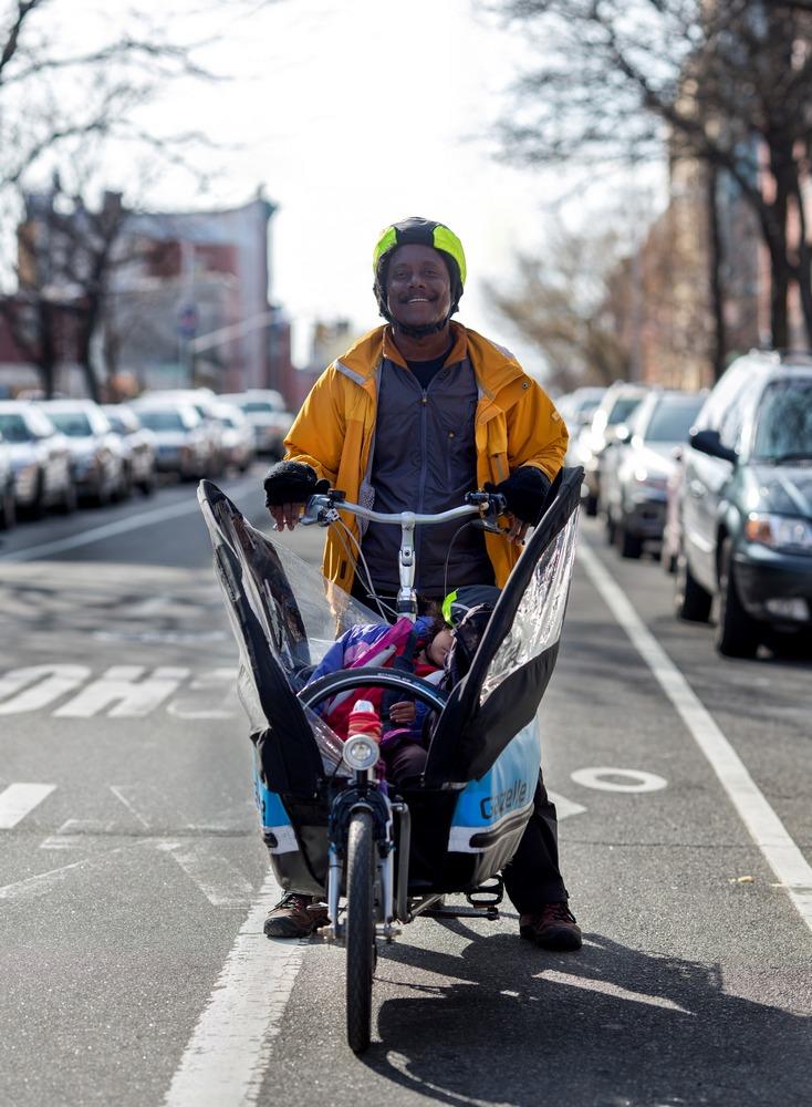 brooklyn new york bike portrait lyndon achee musician cargo bike