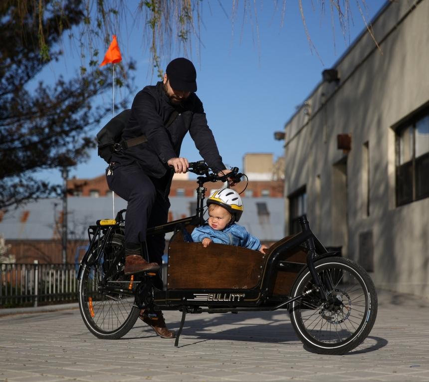 bullitt bike father son baby cargo bike