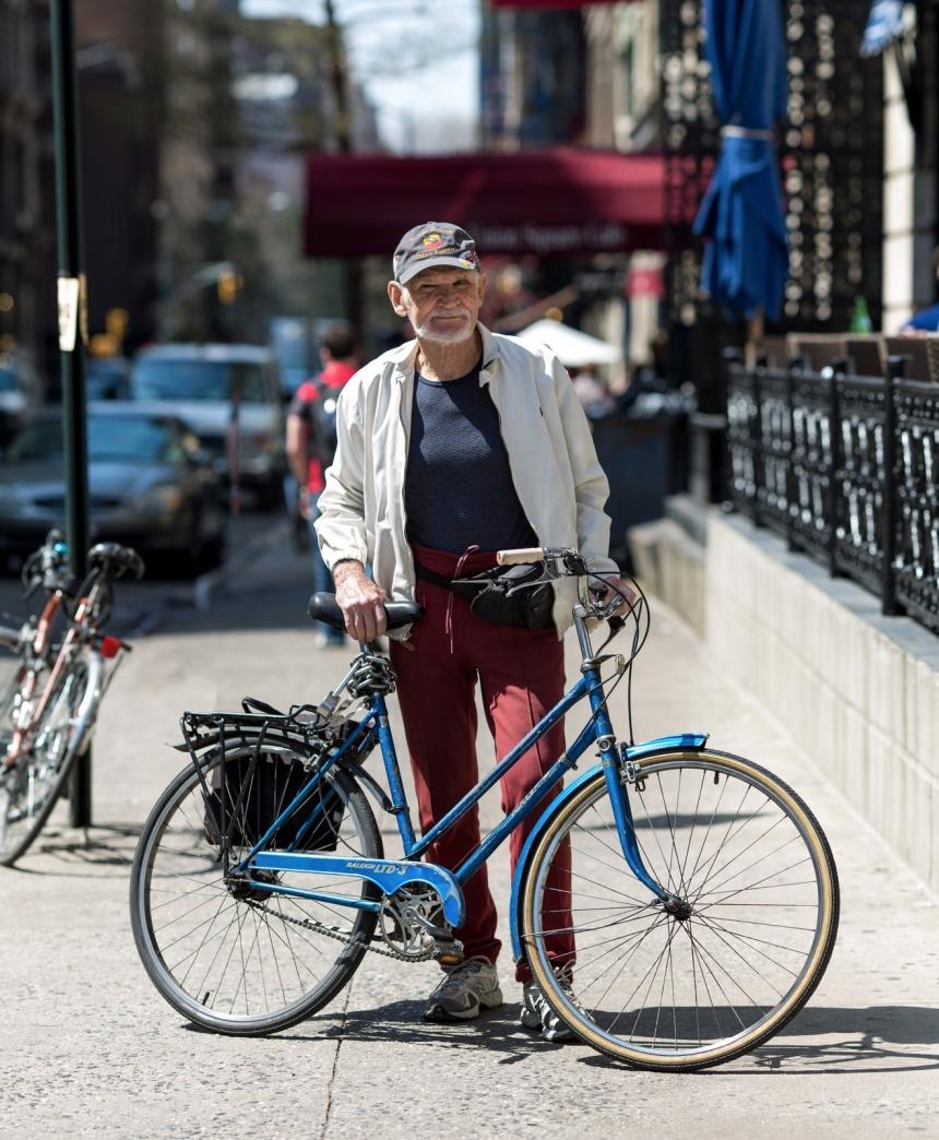 new york bike portrait walter science teacher