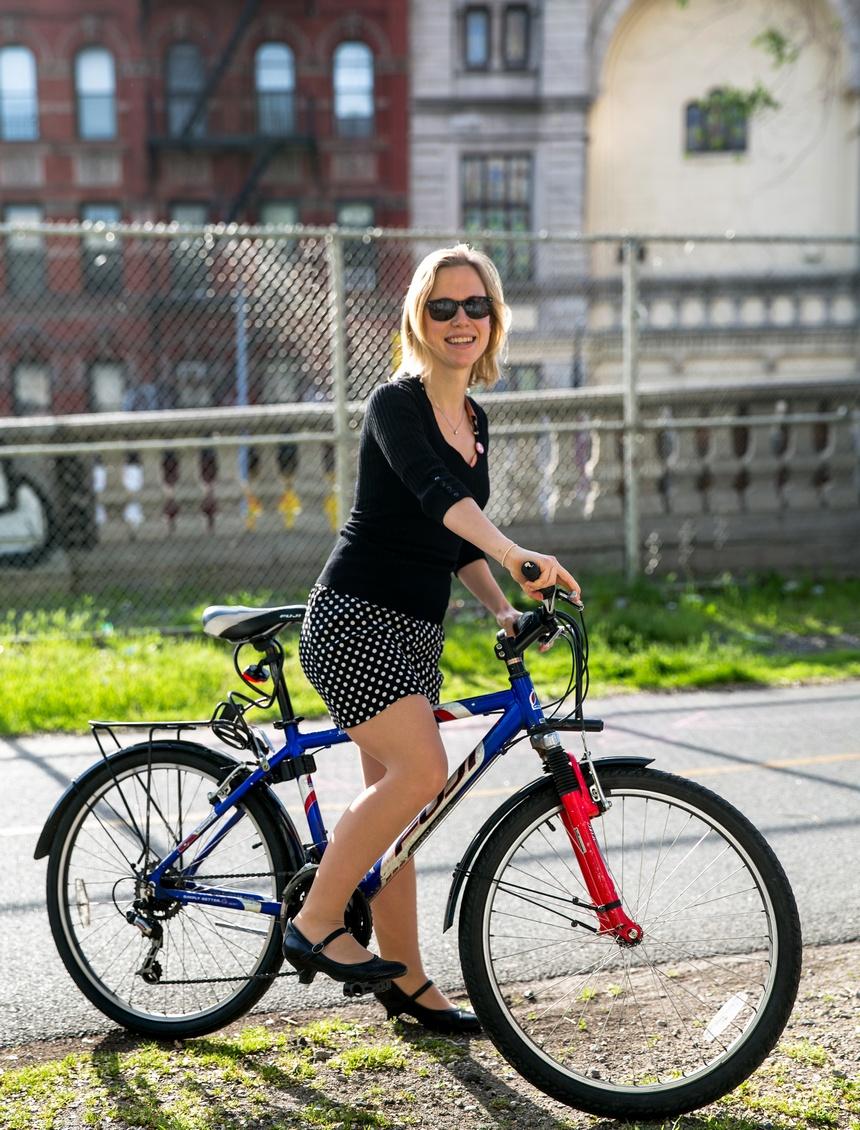 bike new york portrait stefi