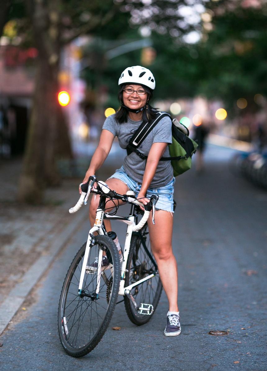 Dorothy Kiều Lê bike portrait