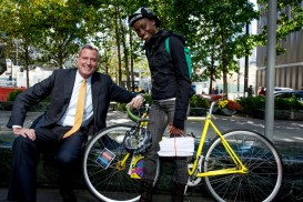 bill de blasio bike