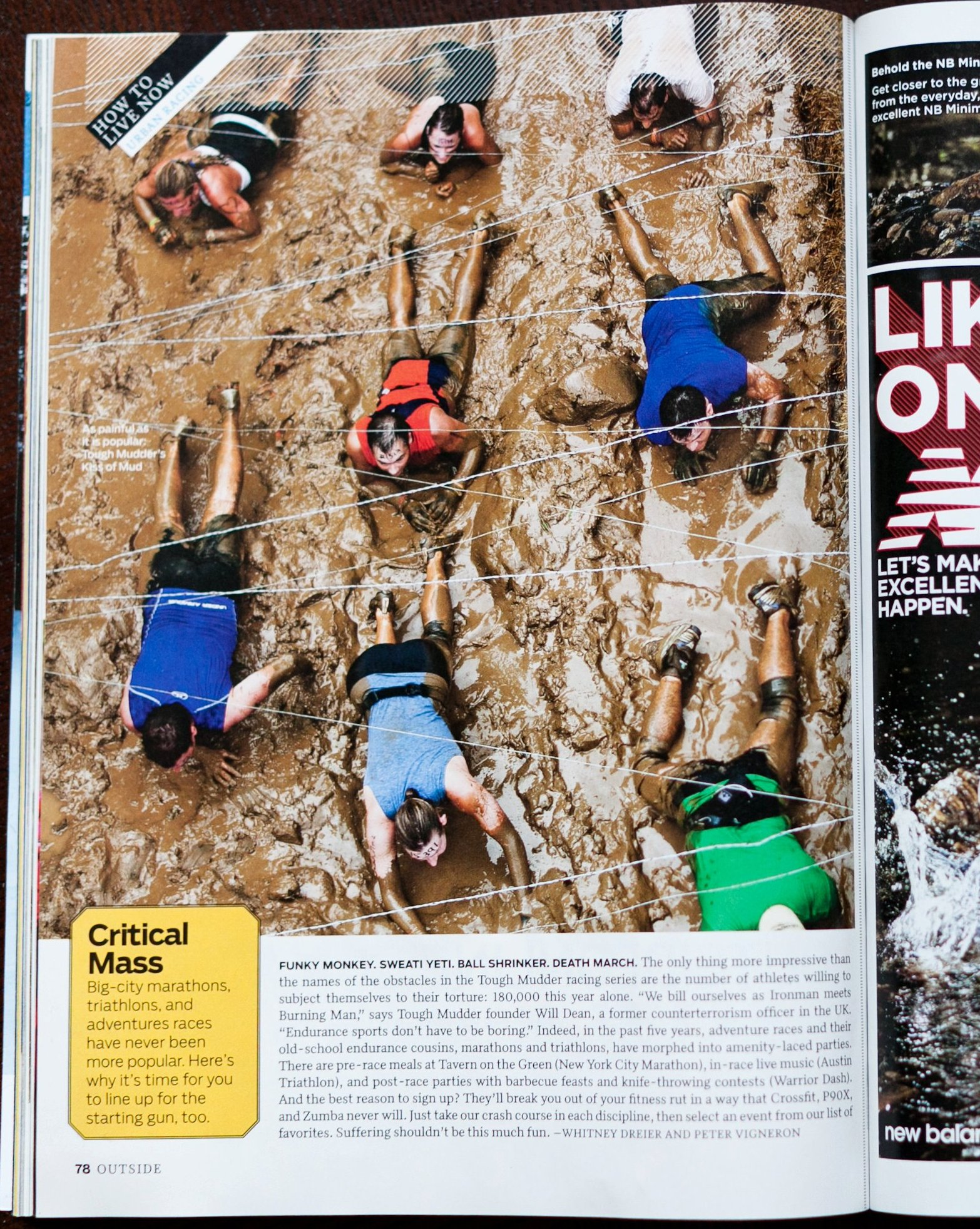 Tough Mudder in Outside Magazine